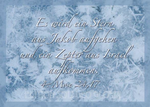 christliche Postkarte 58, 4. Mose, Weihnachten, Israel, Messias ...