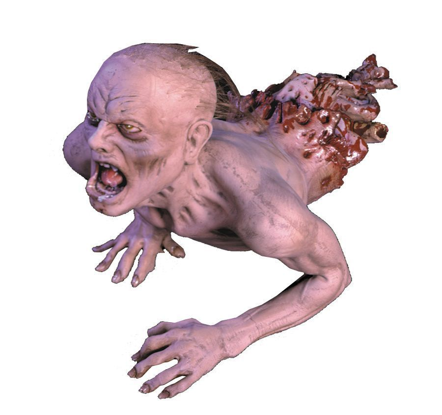 pinner said halloween life size scary creeping zombie decor propwell hes half the man he used to be - Zombie Props