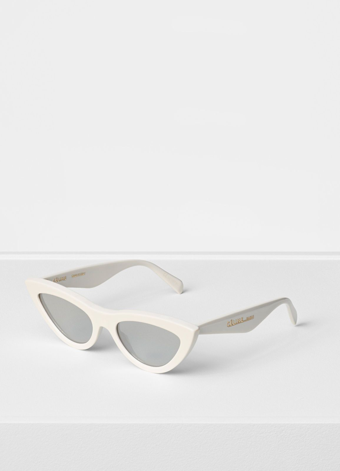 9ed3d5eda8a Céline - Optic white Cat Eye sunglasses in acetate with mirror lenses