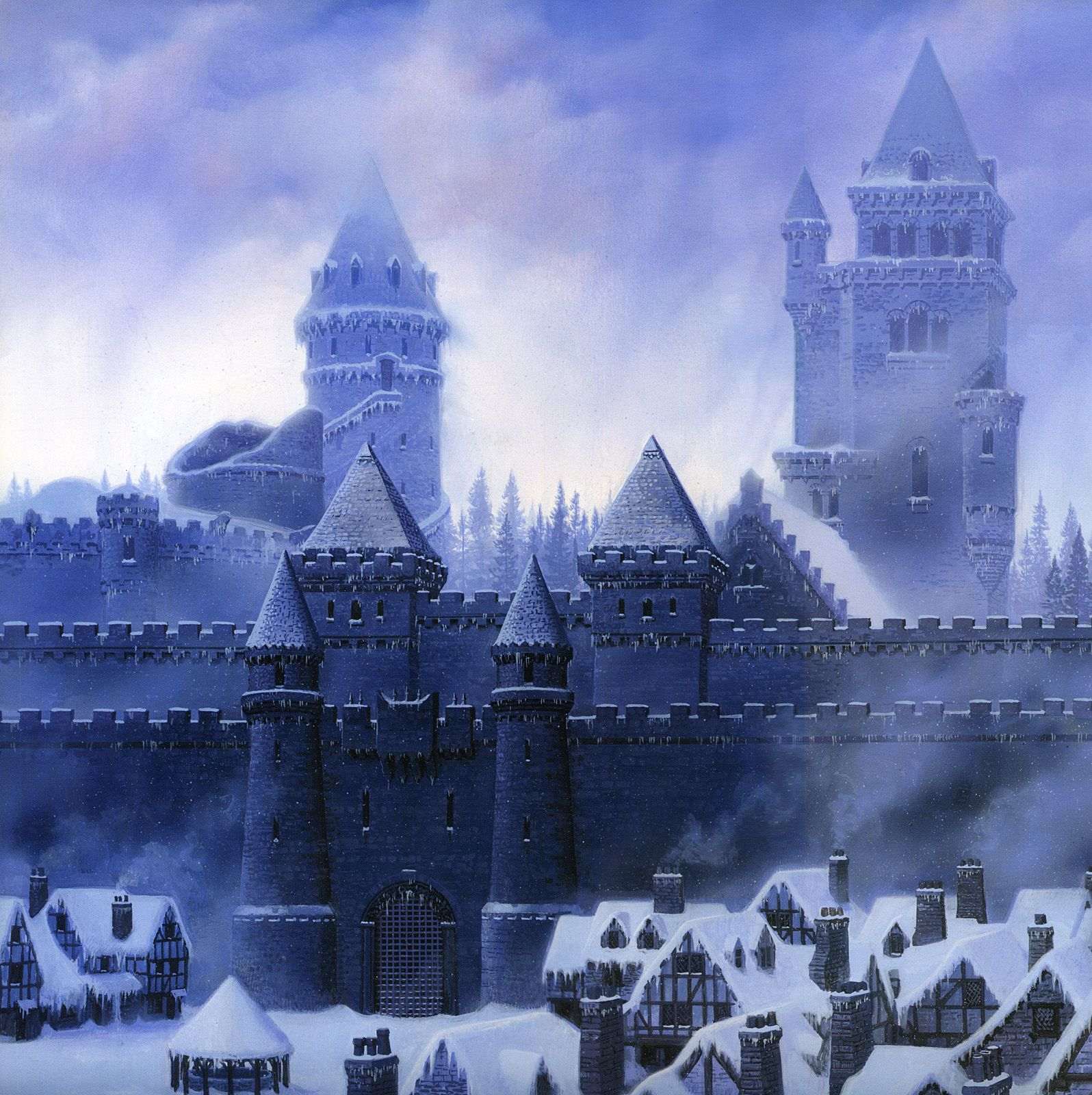 Ted Nasmith Song Of Ice And Fire Winterfell Konsept Sanati