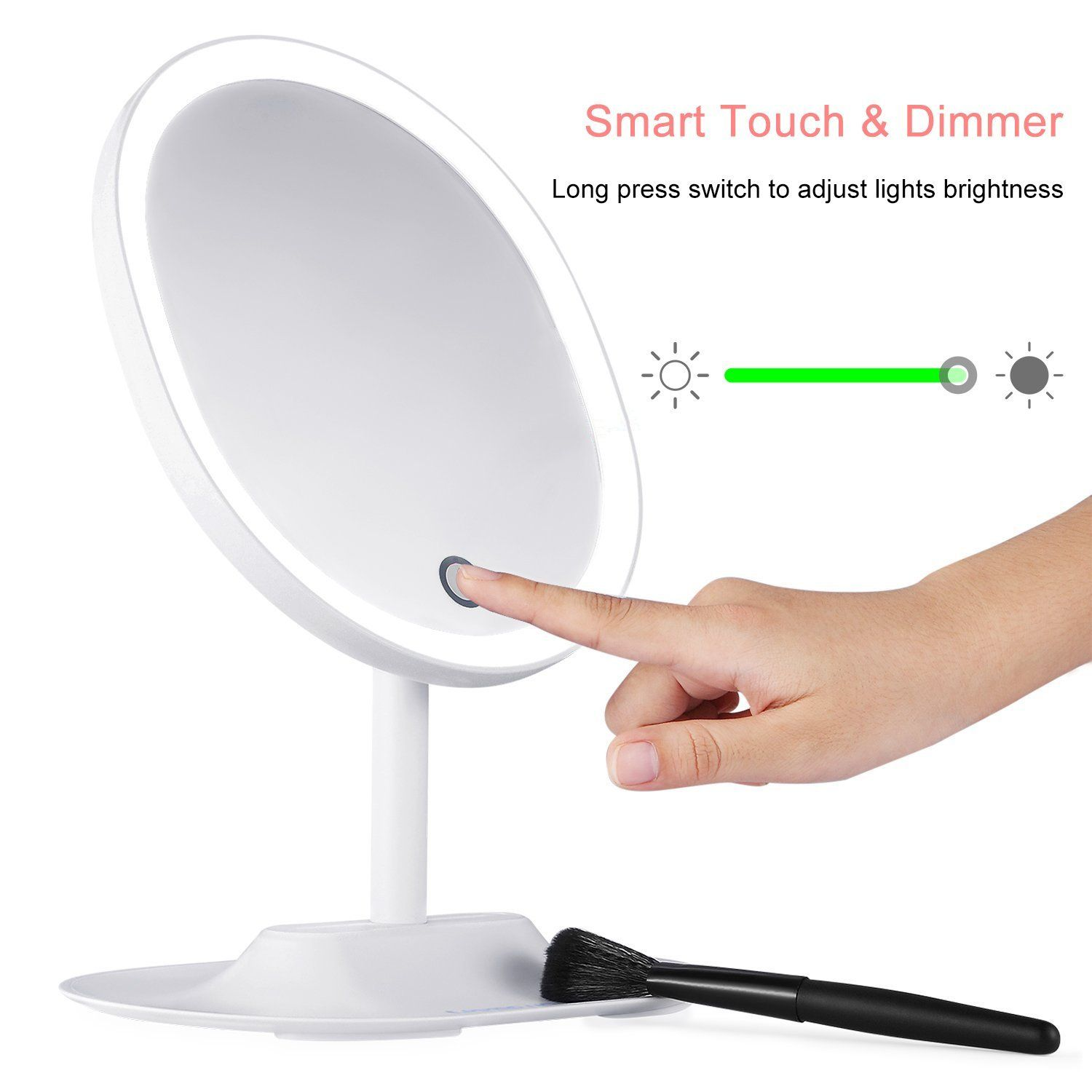 Amazon led lighted makeup mirror thzy ultra bright oval shaped