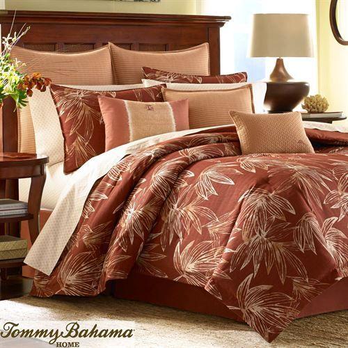 Cayo Coco Comforter Set Rust Comforter Sets Tommy Bahama