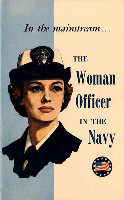 Print of old US Navy Poster - Recruiting Women Officers Military