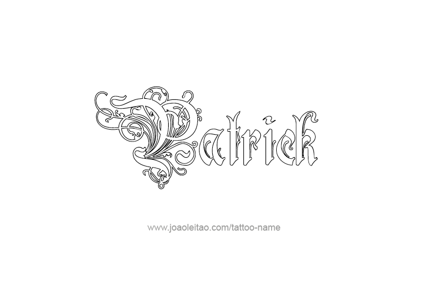 Tattoo Design Name Pat Rick