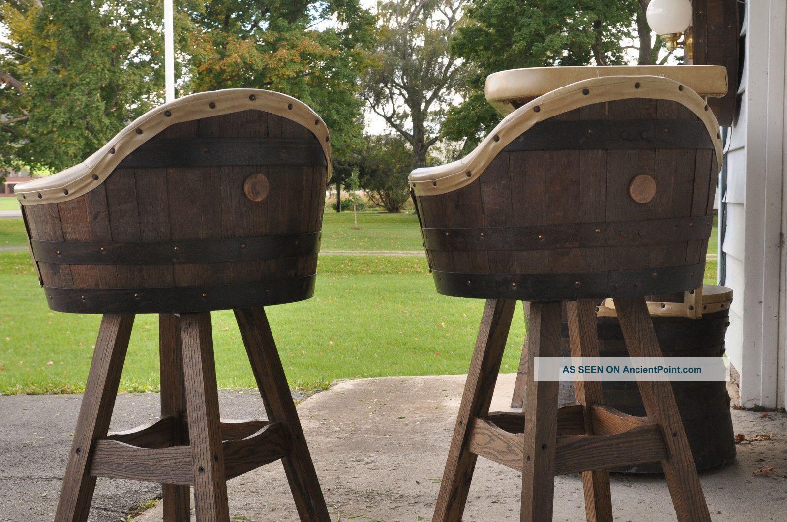 Vintage Whiskey Wine Barrel Rec Room Furniture Bar Amp Stools