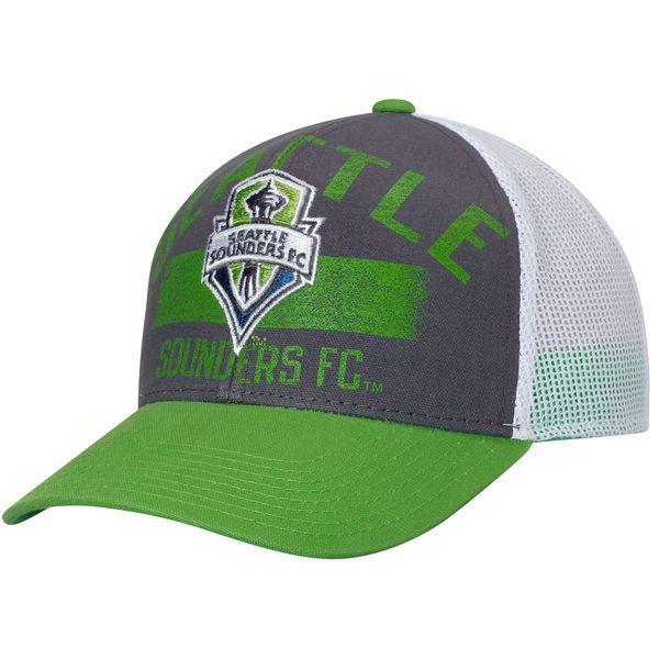 d922dfff4f2 ... purchase mens seattle sounders fc adidas pacific blue rave green trucker  adjustable hat your price 23.99
