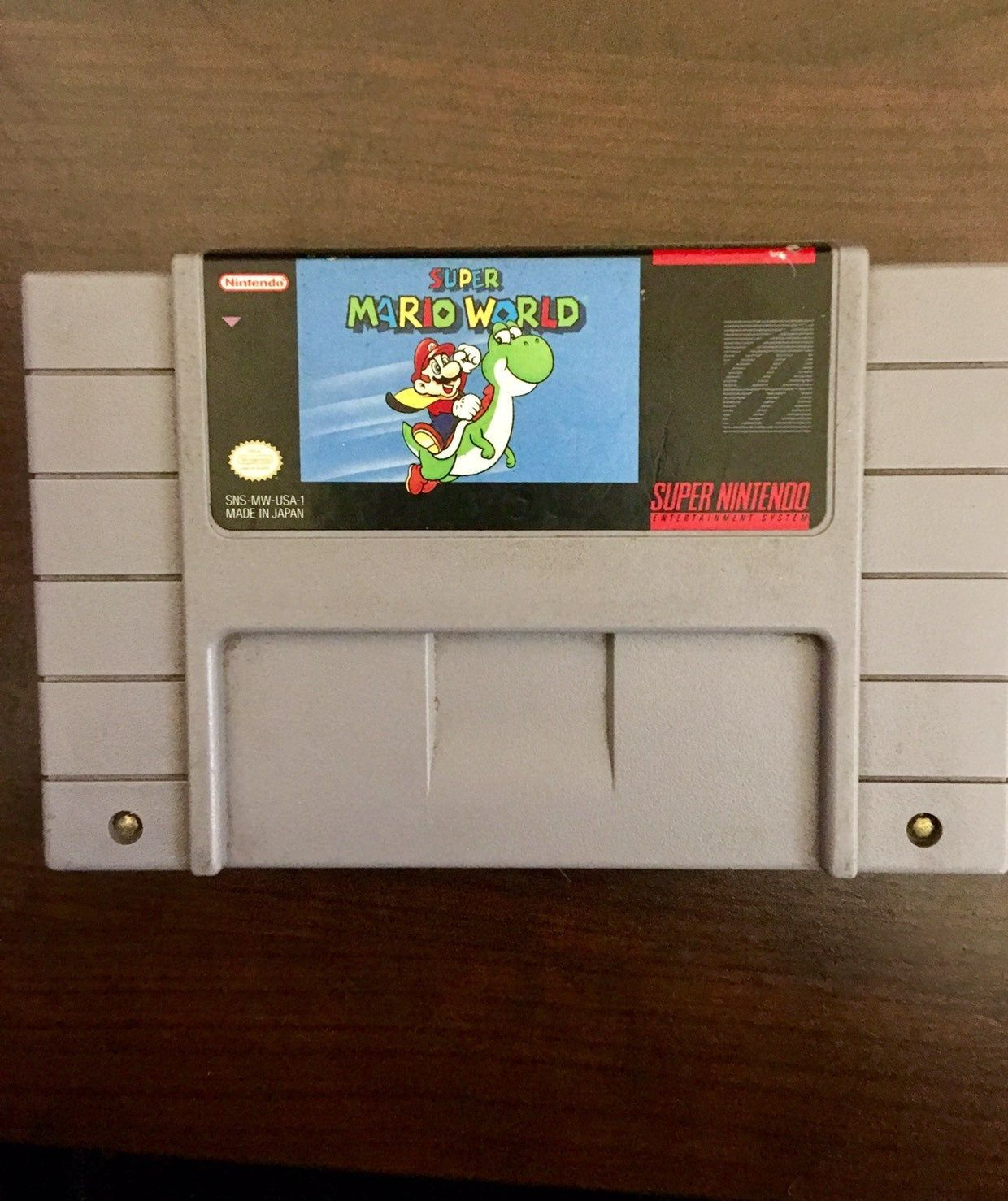Vintage Super Mario World Game Cartridge Only Original And Authentic Cleaned Tested And Guaranteed To Super Mario World Super Mario Super Mario World Game