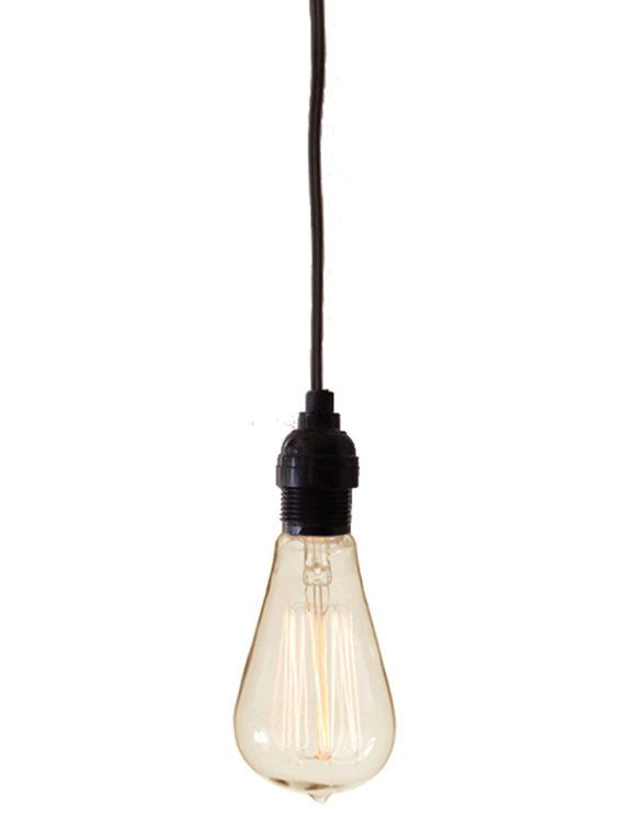 Tesla Bare Bulb Hanging Pendant Light