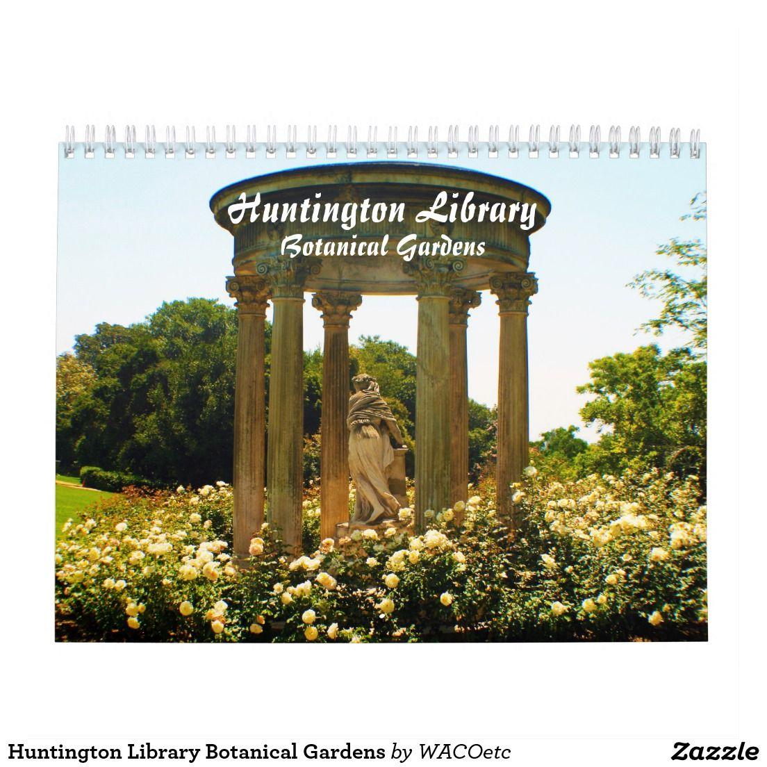 Huntington Library Botanical Gardens Calendar | Zazzle | Pinterest