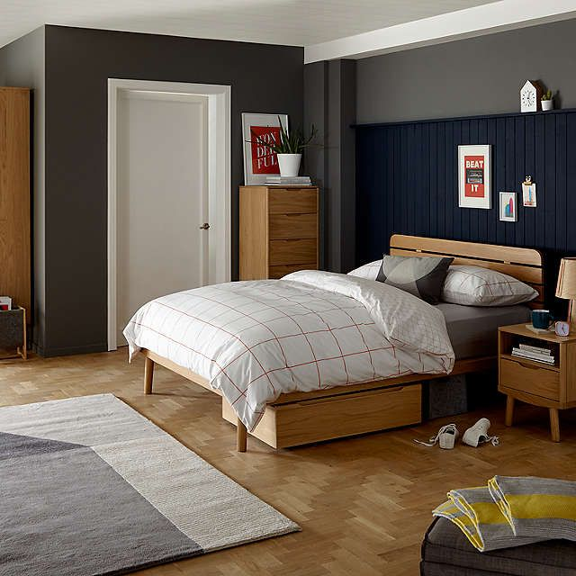 2ea275b87606 BuyHouse by John Lewis Bow Slatted Headboard Bed Frame, Double, Oak Online  at johnlewis.com