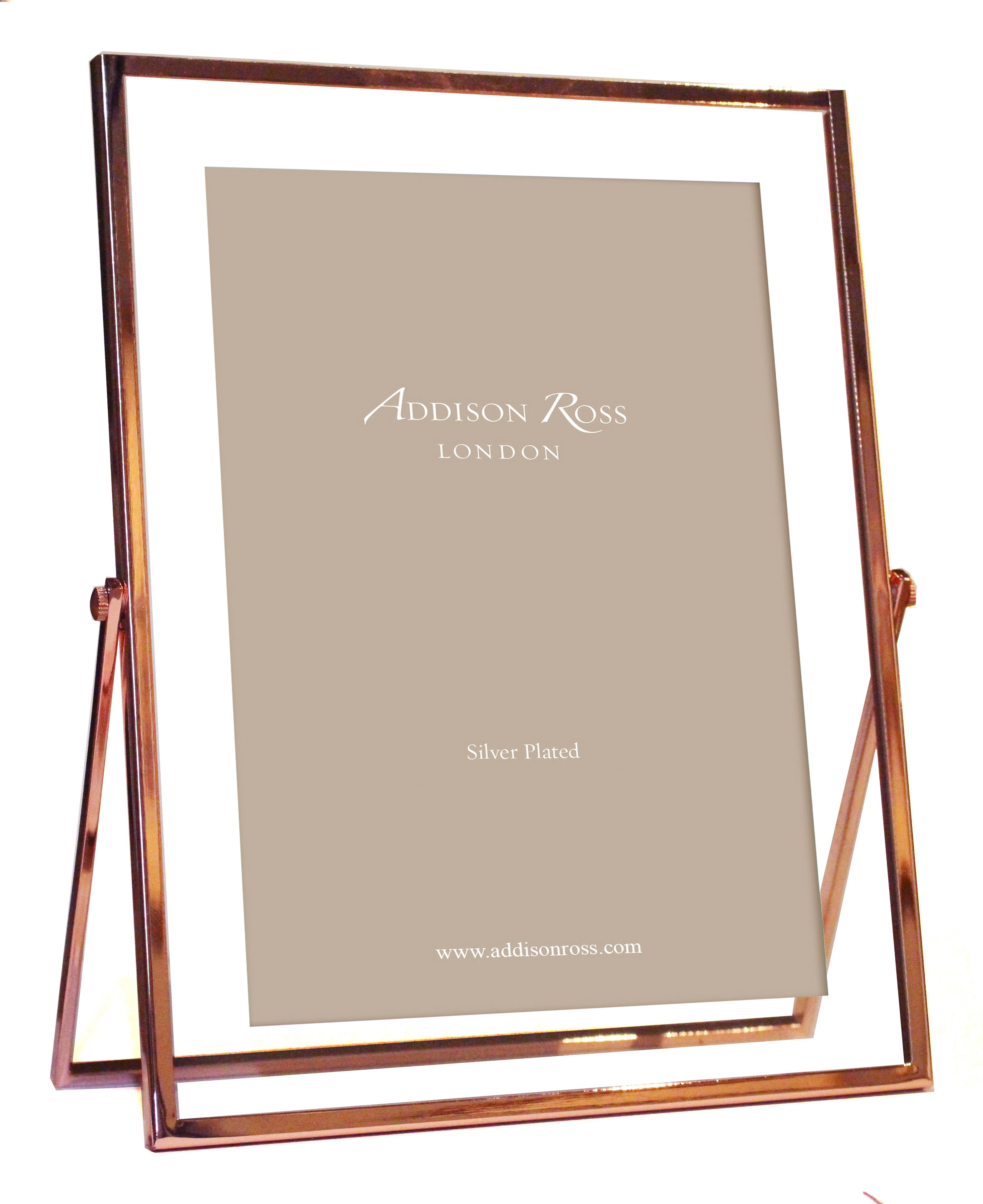A modern classic, this rose gold floater frame will suit any style of interior, available in 4x6 and 5x7. https://www.addisonross.com/Products/A061/Rose-Gold #rosegold #copper #addisonross
