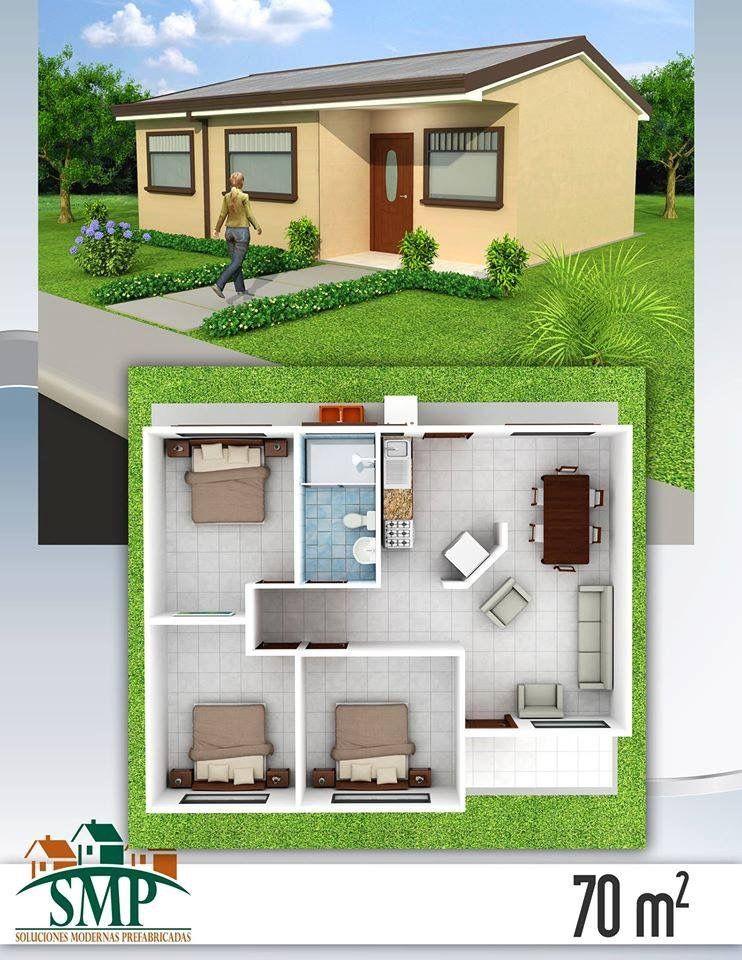 Pin de karina en planos de casas en 2019 plantas de for Casas prefabricadas pequenas