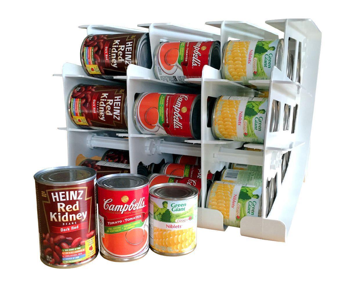 Systeme De Rangement Et De Rotation De Boites De Conserve De Fifo Format Petit A Moyen Walmart Canada Outdoor Food Canning Emergency Preparedness Food