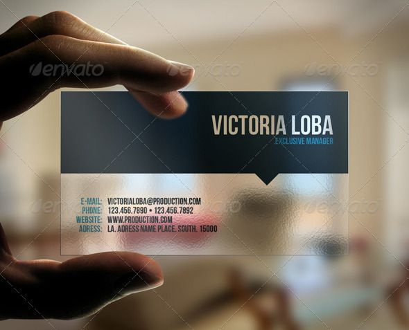 Elegant transparent business card transparent business cards elegant transparent business card fbccfo