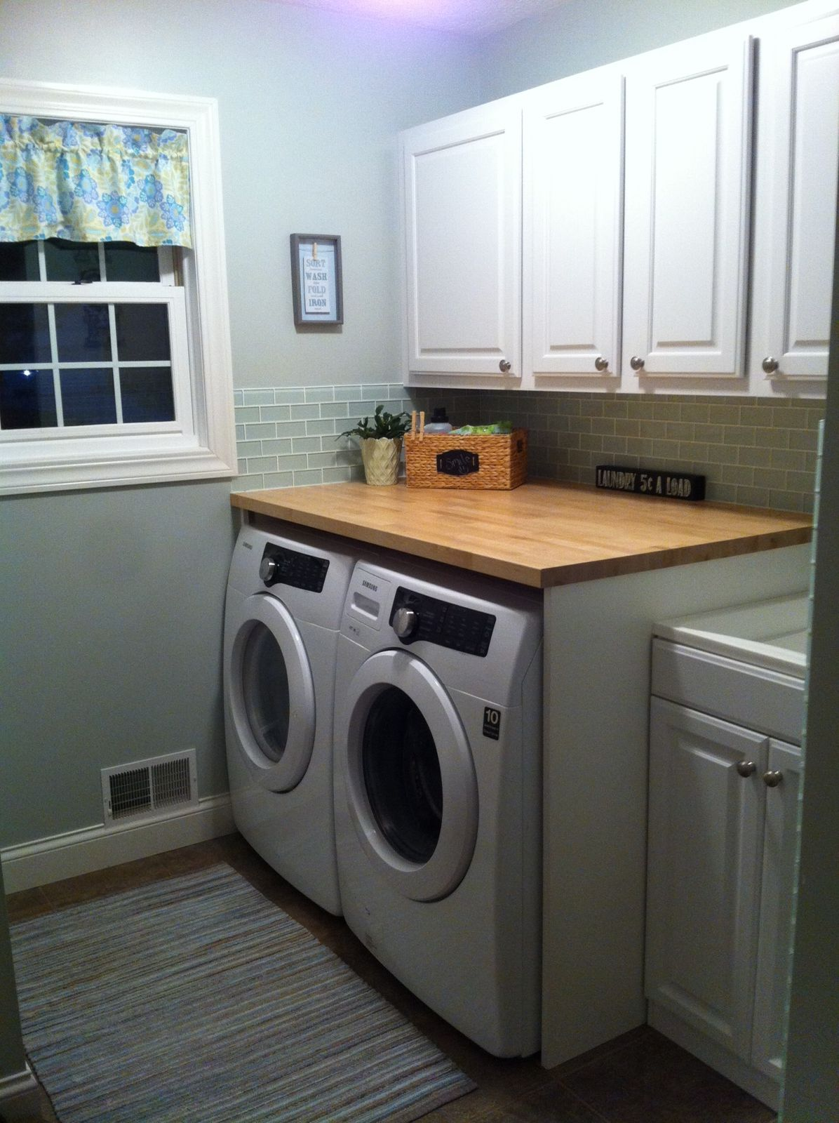 Countertop Glass Washer Our New Laundry Room Complete With Butcher Block Countertop For