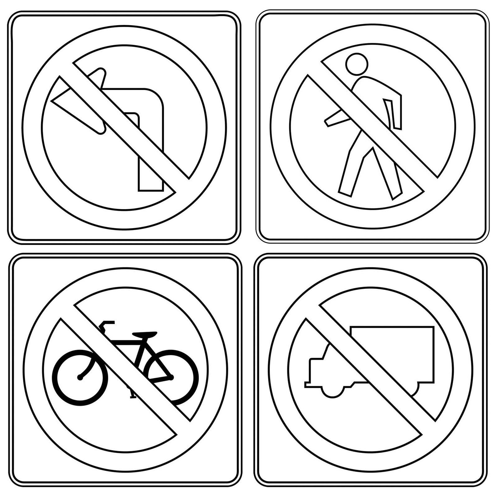 Prohibitory Traffic Sign Poster And Drawing Page In 2020 Traffic Signs Sign Poster Alphabet Coloring Pages