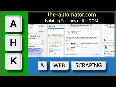 Web Scraping with AutoHotkey 103-Isolating sections and taking