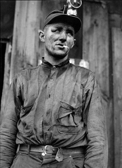Eyes of the Great Depression 120. - Miner at Dougherty's mine, near Falls Creek, Pennsylvania; photo by Jack Delano
