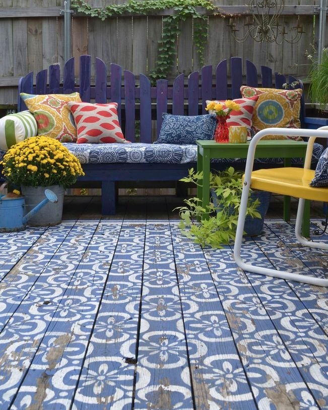 top 10 stencil and painted rug ideas for wood floors | patio paint ... - Concrete Patio Floor Paint Ideas