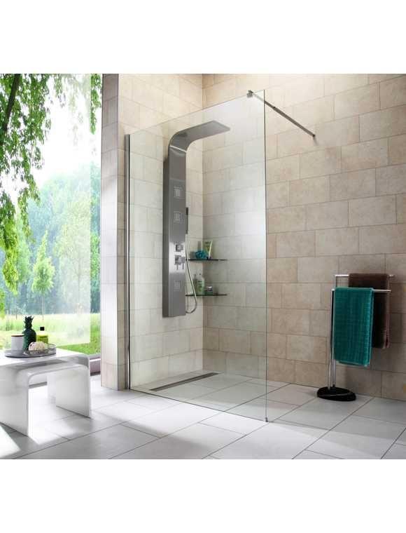 Walk In Dusche Duschabtrennung Breite 120 Cm Pinterest Begehbare Ebenerdig
