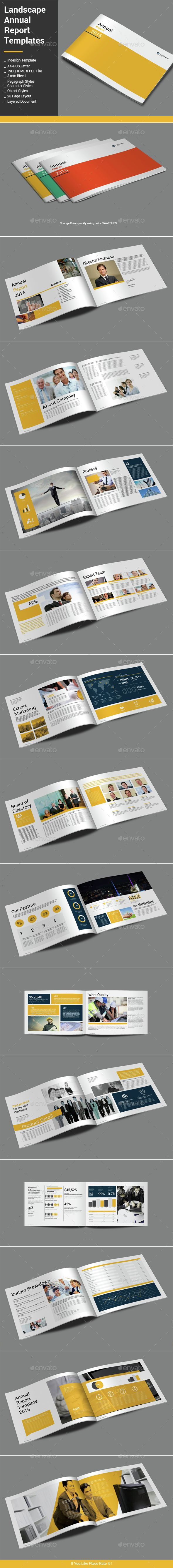 Landscape Annual Report Template | Annual reports, Template and ...
