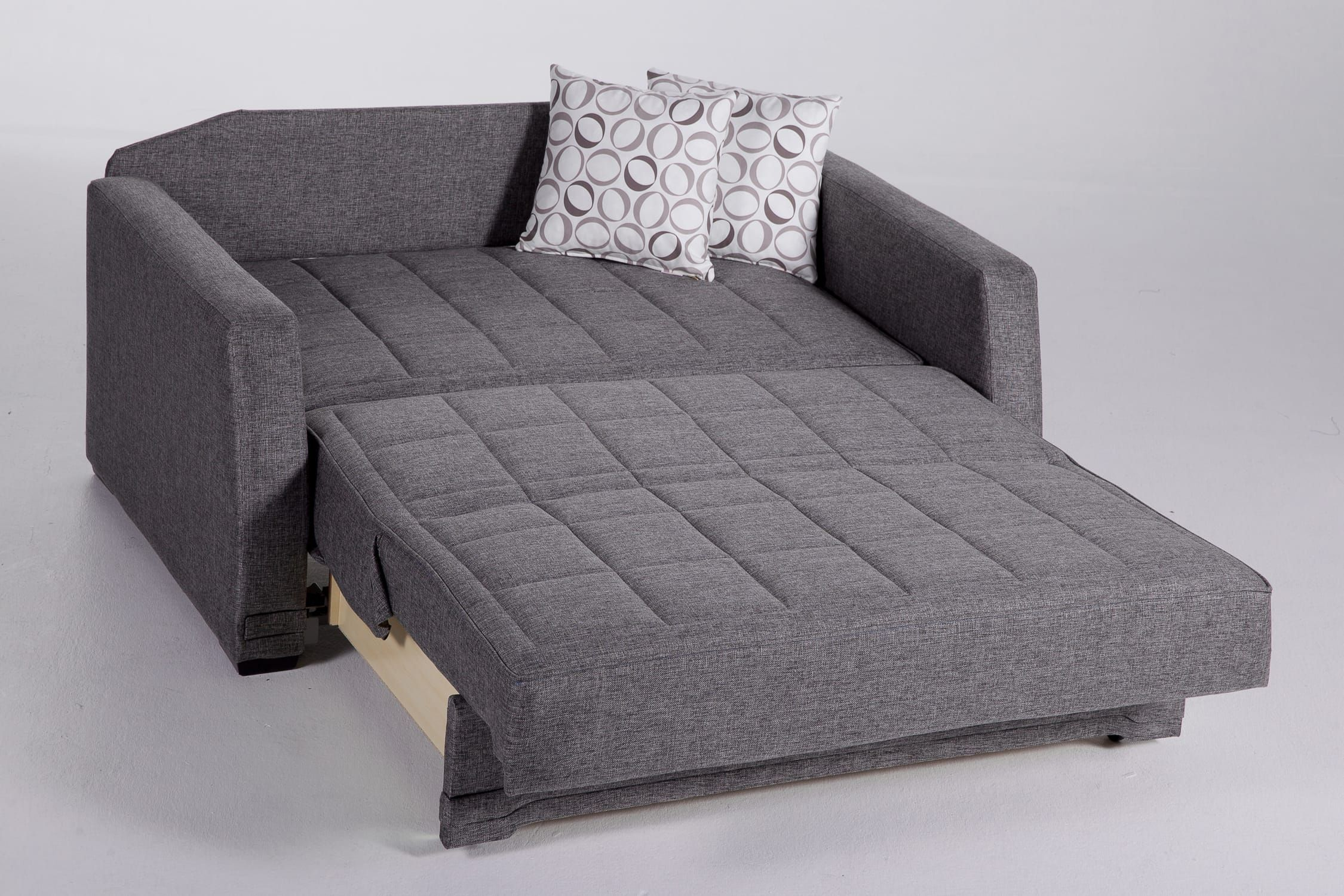 Valerie Diego Gray Loveseat Sleeper By Istikbal Furniture Sofa