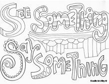 Coloring Page Bullying Standing Up Against Google Search