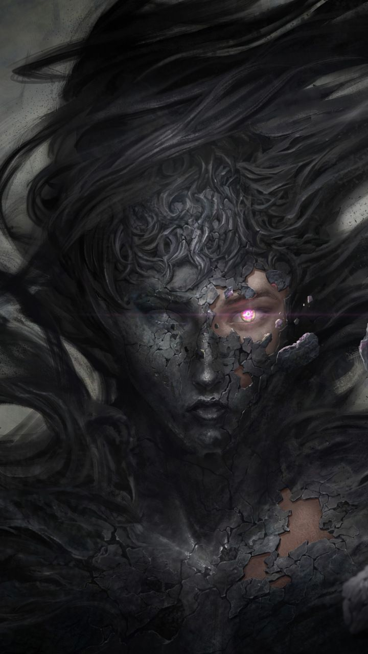Dark demon fantasy witch 5k, 720x1280 wallpaper