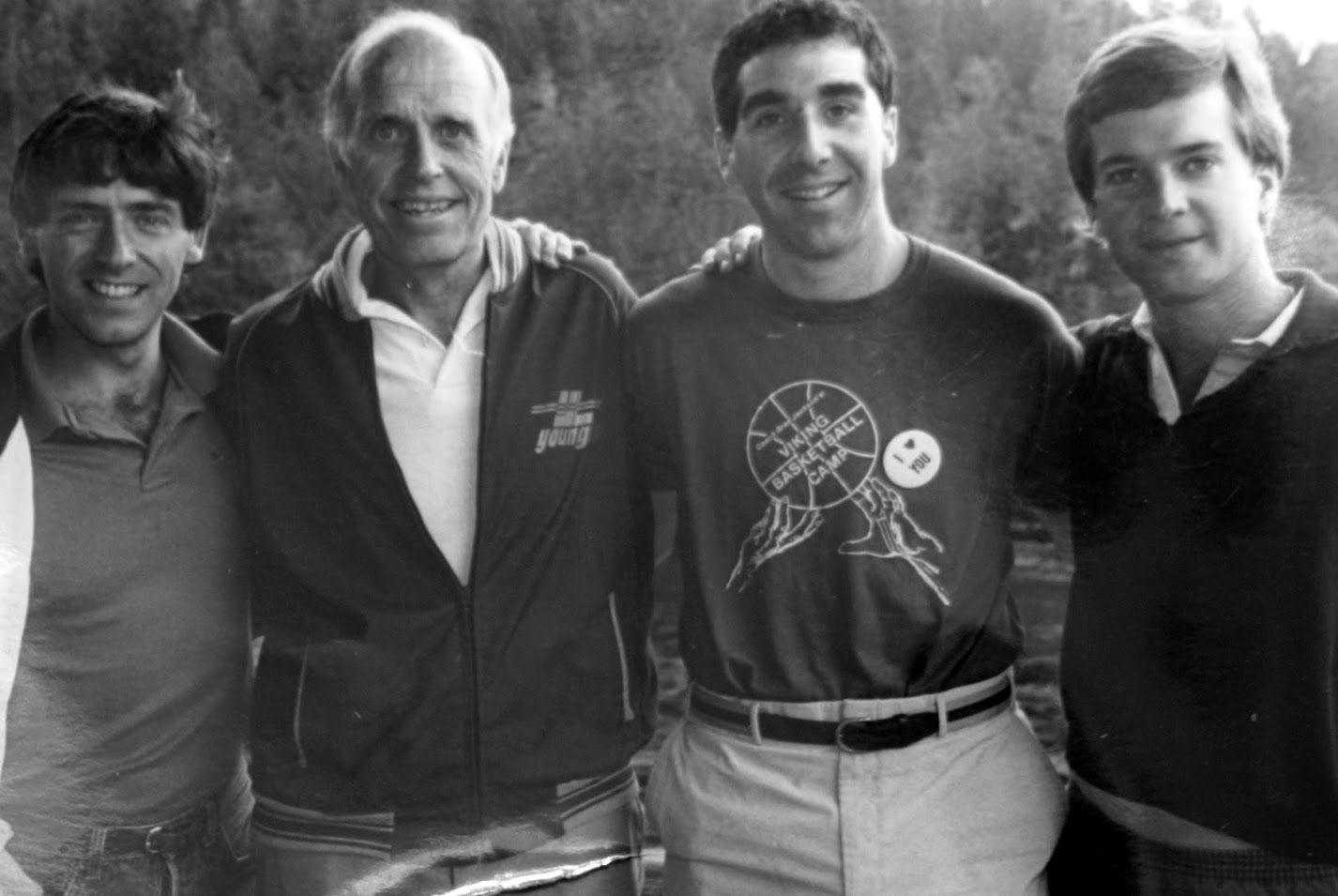 Malibu Club Program Staff (unknown date) left to right: Bill Maston, Bob Mitchell, Kevin Bryant, & John Franklin #younglife #malibuclub #ylMalibu #ylMalibuclub