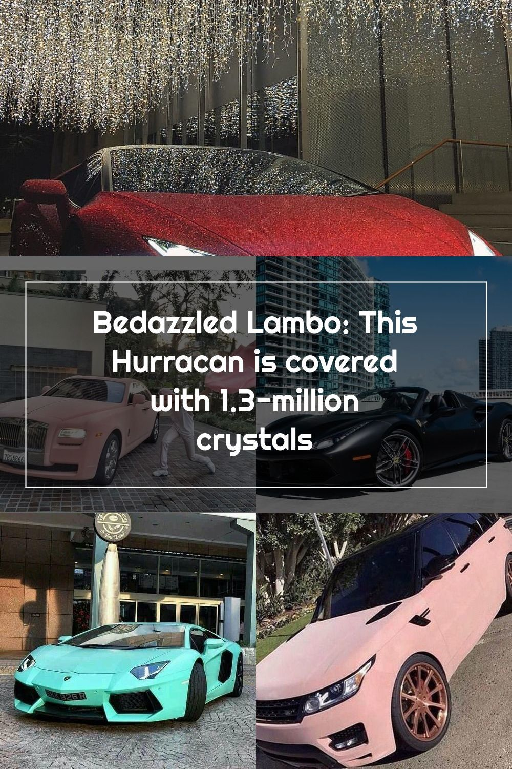 This is how you shut down a city This Hurracan is covered with 1.3-million crystals! See more at #slaylifestyle #fastcars #fastlane #lamborghini #richlist #spoiler #luxuryliving #swarovski #diamonds #redcar #hurracan #glitter 