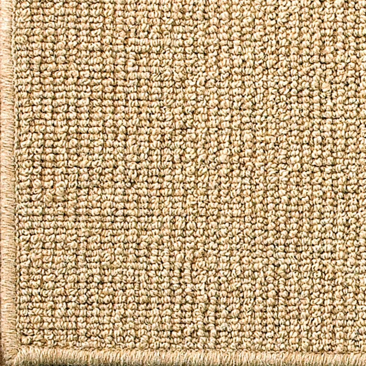 Wool Sisal W Serged Binding Rug In Natural 8 Square 528