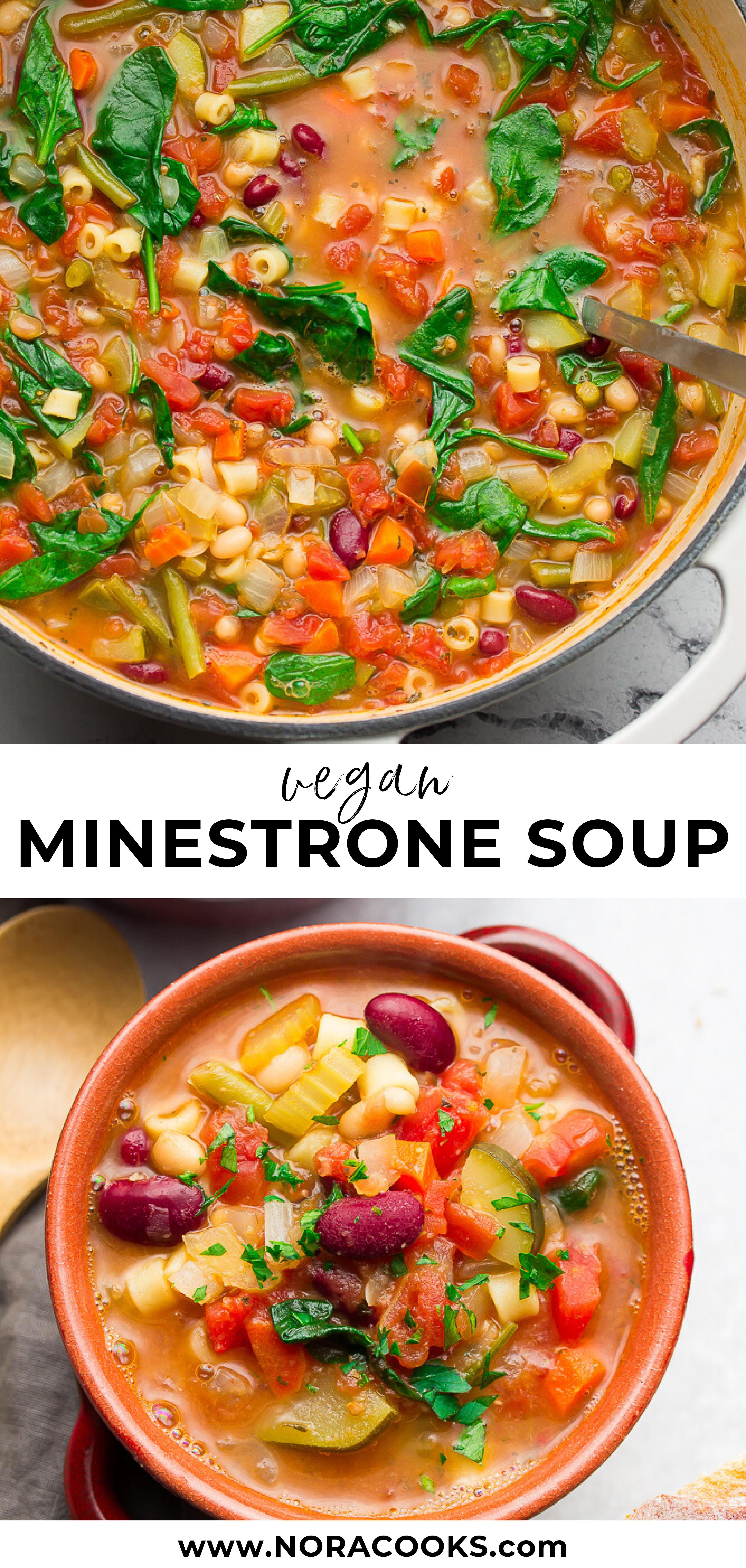 Better Than Olive Garden Vegan Minestrone Soup Sure To Warm You Up On Cold Nights Vegan Plantba In 2020 Vegan Minestrone Soup Hearty Vegetable Soup Minestrone Soup
