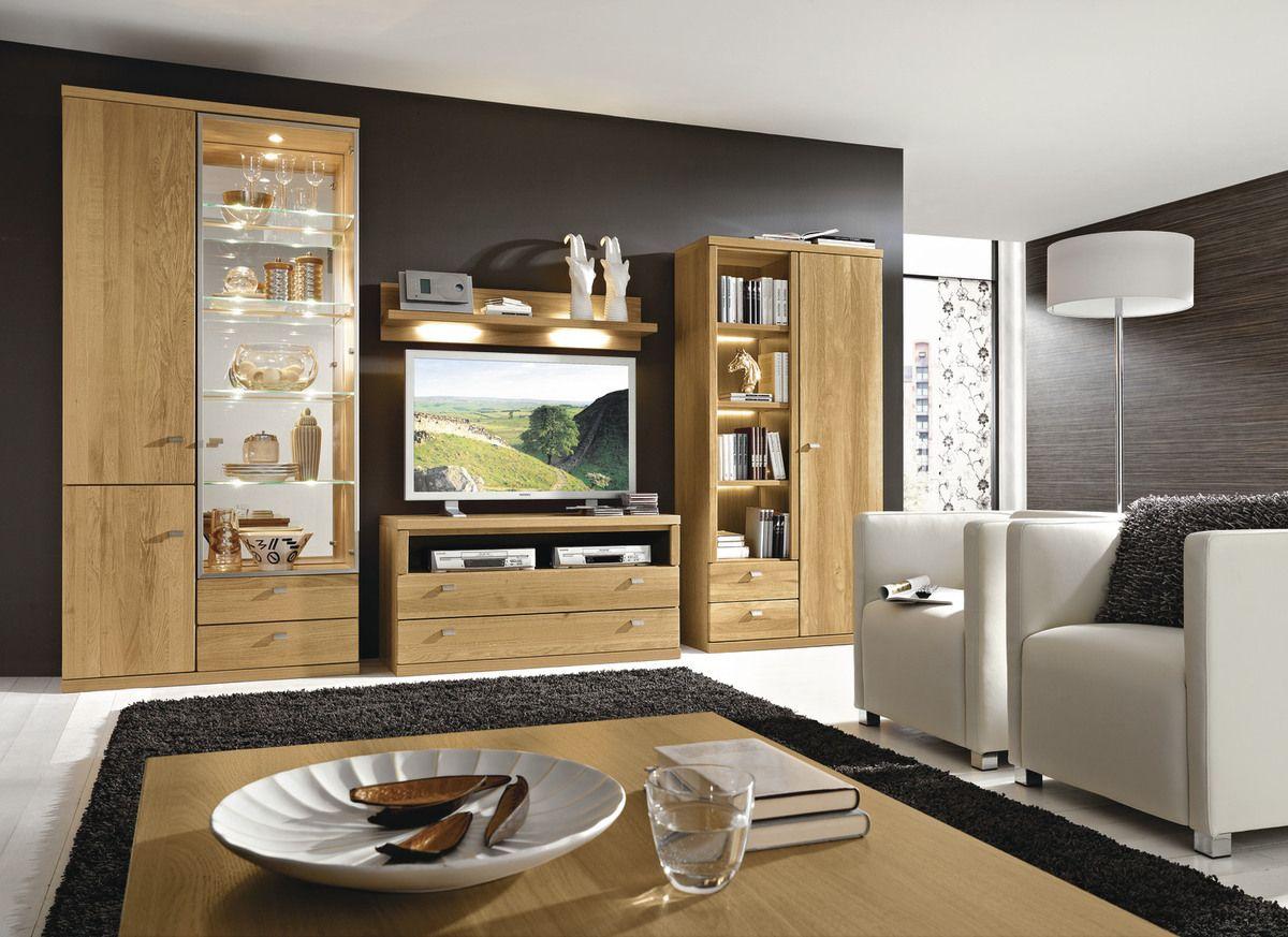 wohnprogramm trento mit ihren sanft schimmernden fronten aus massiver eiche und hochwertig. Black Bedroom Furniture Sets. Home Design Ideas
