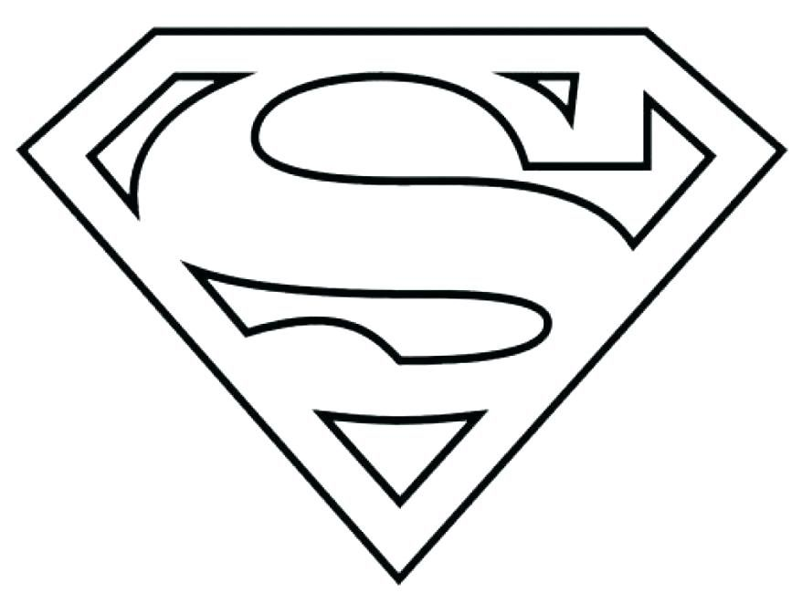Supergirl Logo Printable Superhero Coloring Pages Superman