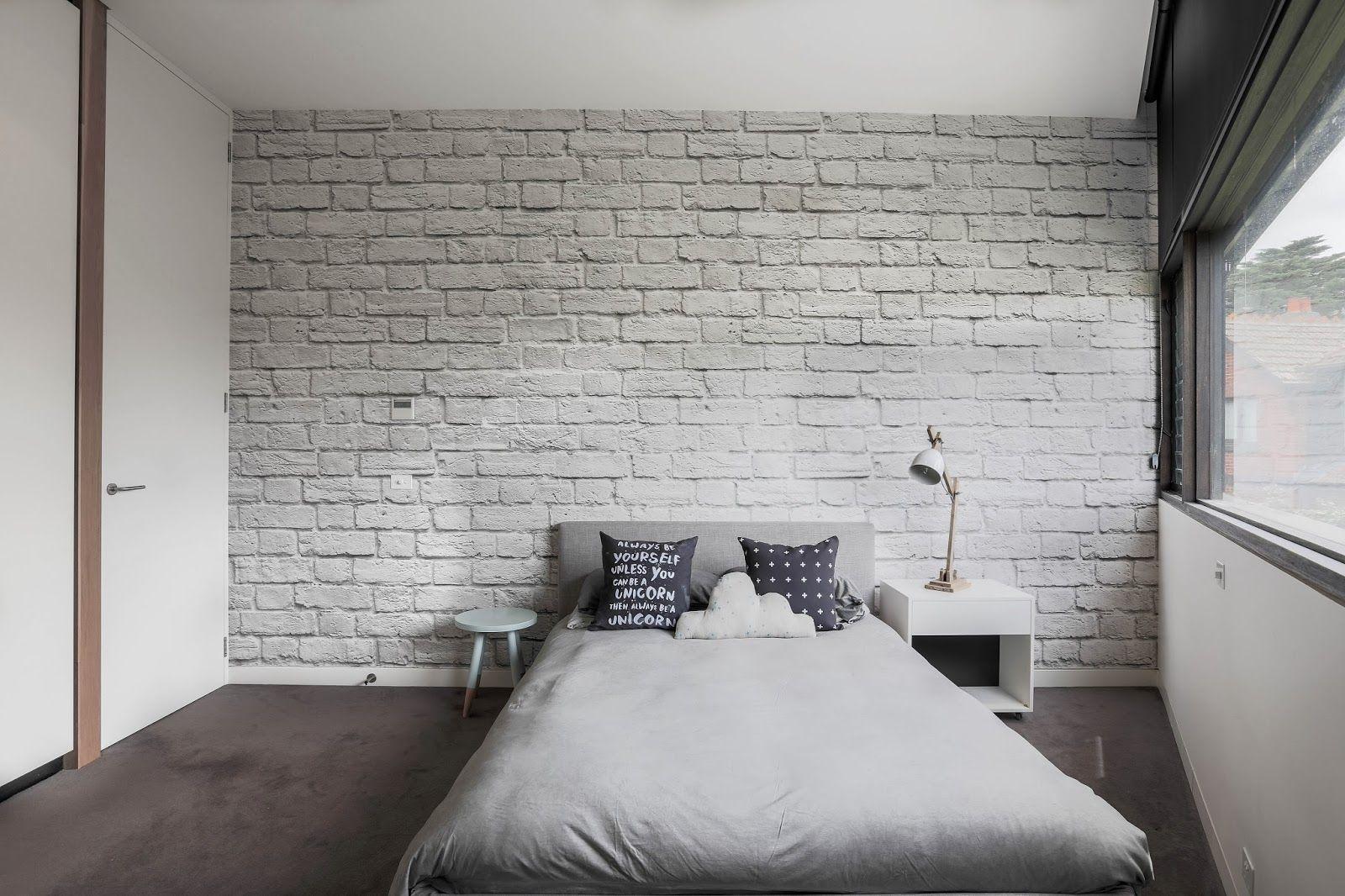 Little Liberty White Brick Walls Tween Girls Room White Brick