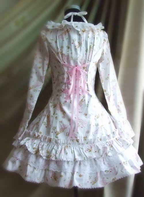 Lolita lolita sweet floral lotus lace ladies two beautiful princess dress straps Rose