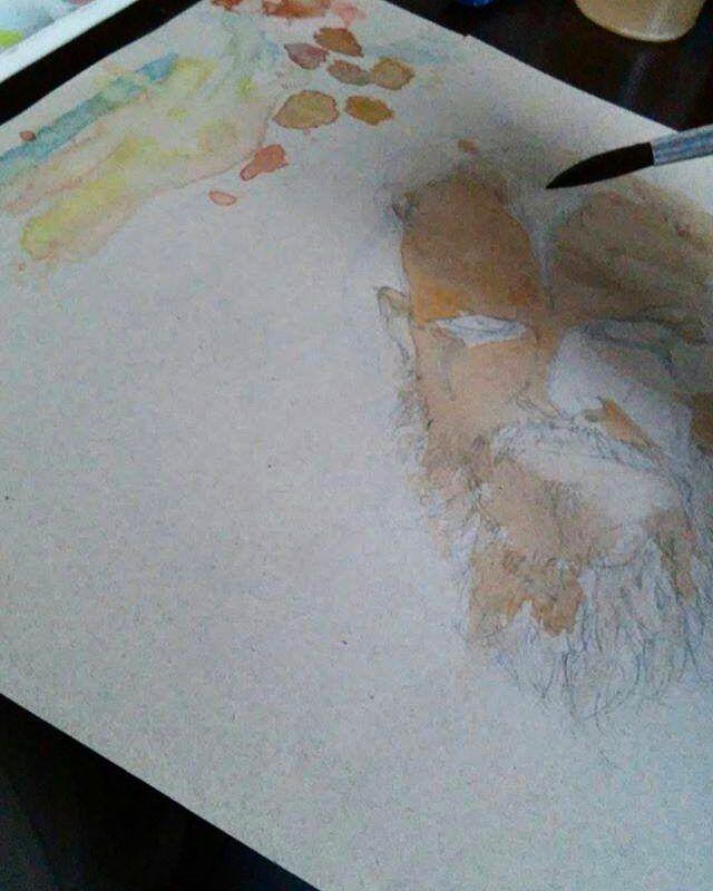 Estudo do feriado que infelizmente não será prolongado... Aquarela🎨  #drawings #draw #drawing #colors #color #aquarela #paint #painting #desenho #studying #study ##rodrigosancho #dibujo #vikings #floki #sketchbook #sketch #arte #artist #art #pencil #watercolor