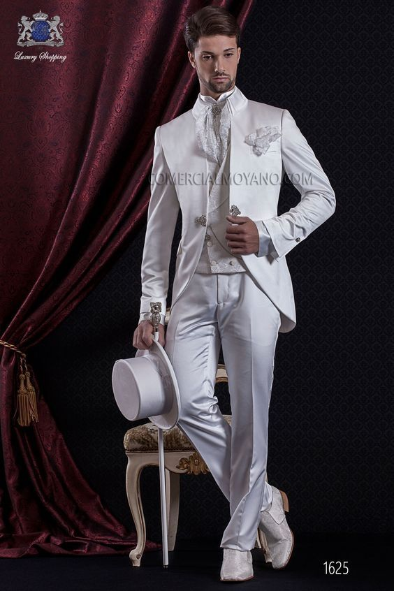 Latest Coat Pant Design Italian Ivory Satin Men Suit Slim Fit 3 ...