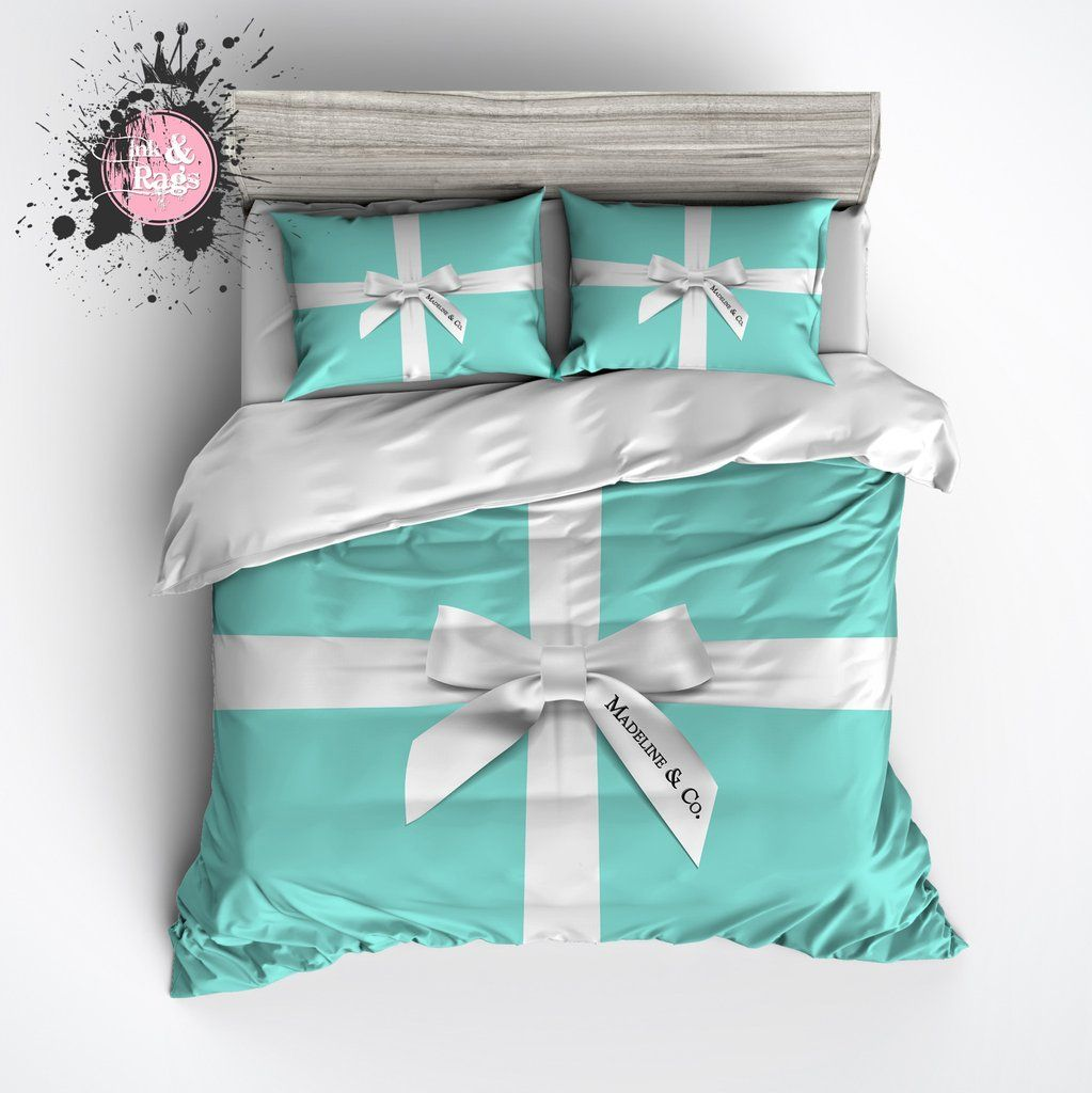 Tiffany Blue Bedding Part - 20: Name U0026 Co Personalized Fashion Bedding. Tiffany Blue ...