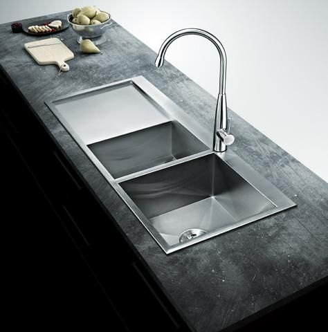 Ruvati 33 X 22 Inch Drop In Topmount 16 Gauge Tight Radius Stainless Steel Kitchen Sink Single Bowl Rvh8005 In 2020 Stainless Steel Kitchen Sink Sink Double Bowl Kitchen Sink