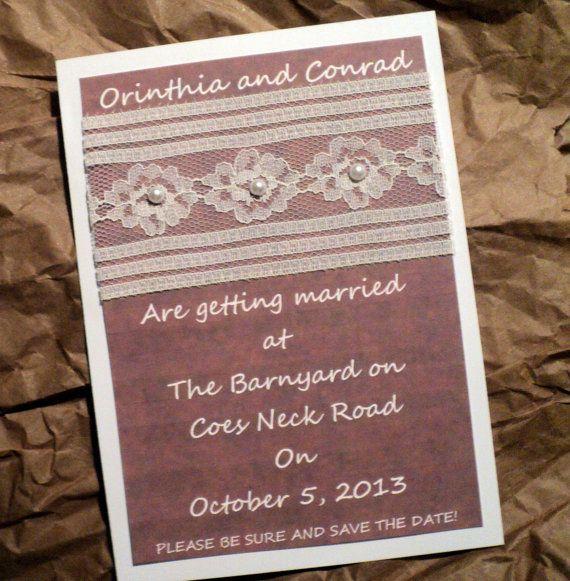 CLEMENTINE  Barnyard Rustic Wedding Invitations by EnvyMeInvites, $15.00