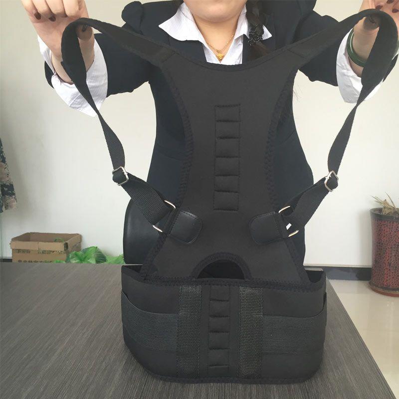 30922c35610 Male Female Adjustable Magnetic Posture Corrector Corset Back Men Brace  Back Belt Lumbar Support Straight Corrector for Posture