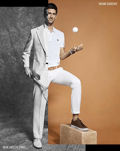 Découvrez la nouvelle égérie Lacoste Novak Djokovic, symbole