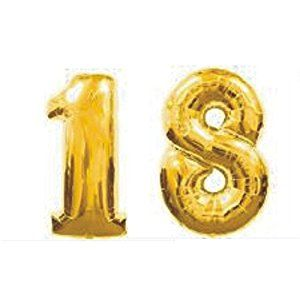 Giant 18th Gold Number Balloons Amazoncouk Kitchen Home