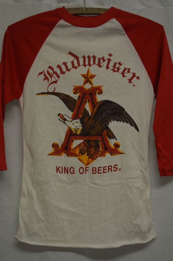 beeb1838 VINTAGE BUDWEISER BEER Tshirt Old Stock SzS by PaddleDownTraders, $30.00