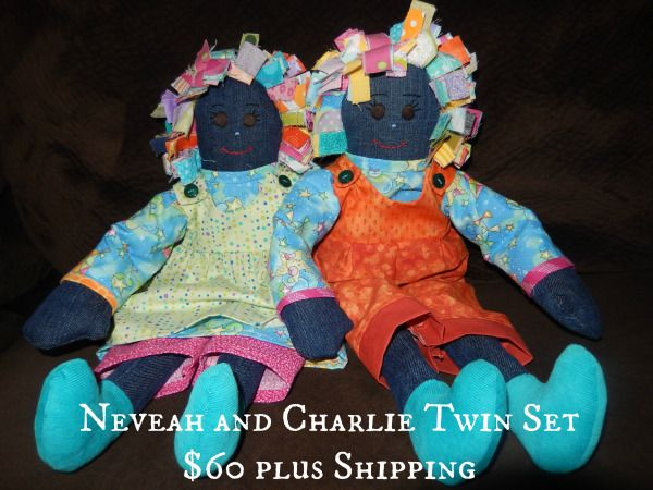 Meet Neveah and Charlie Twin Analina Rag Dolls