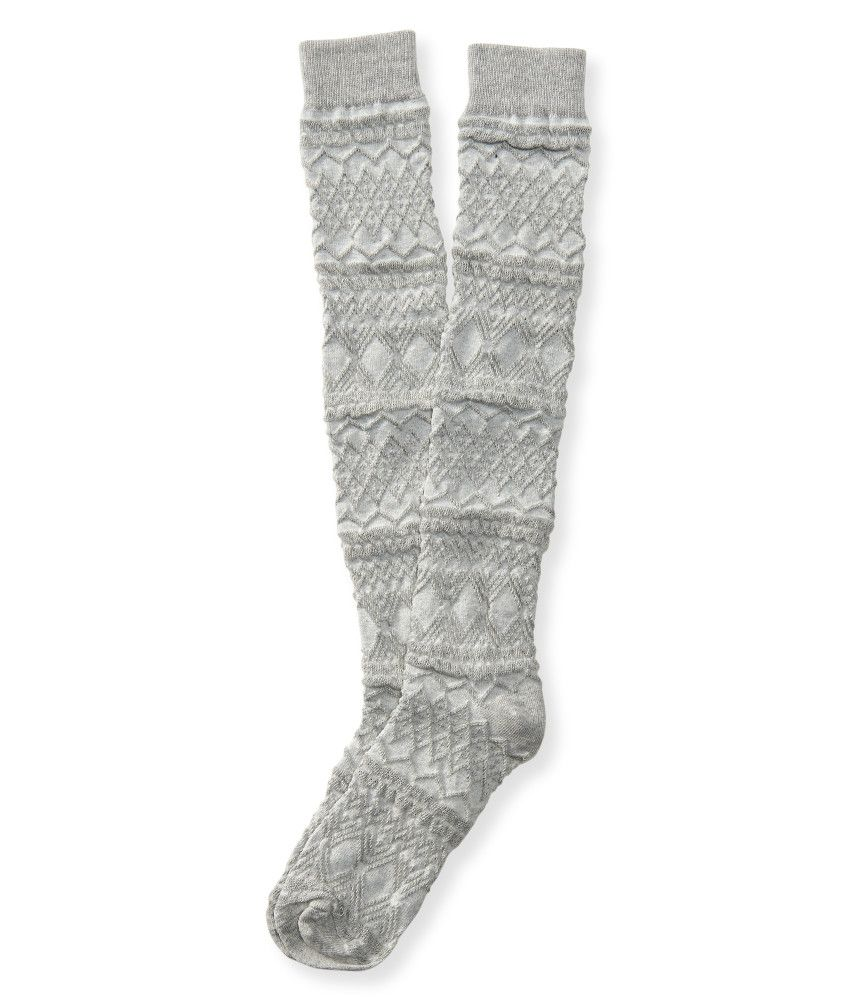 34dc8545a9a Textured Over-The-Knee Socks - Aeropostale