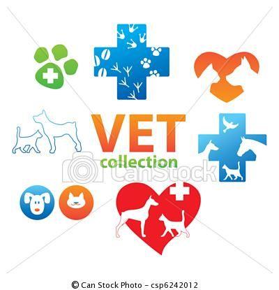 Vector Vet Collection Stock Illustration Royalty Free Illustrations Stock Clip Art Icon Stock Clipart Icons Logo Veterinary Business Card Logo Clip Art