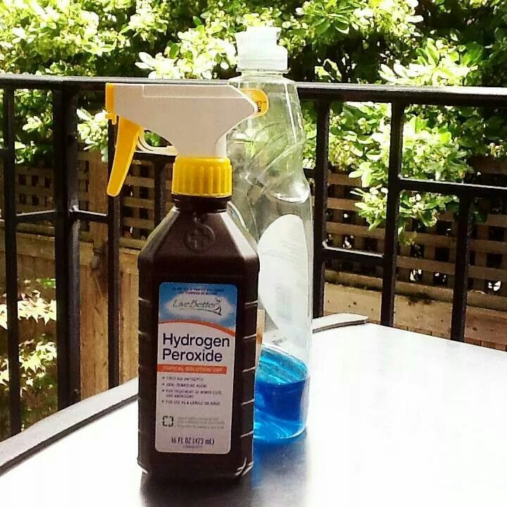 Fill A Hydrogen Peroxide Bottle That S 1 3 Empty With Dish
