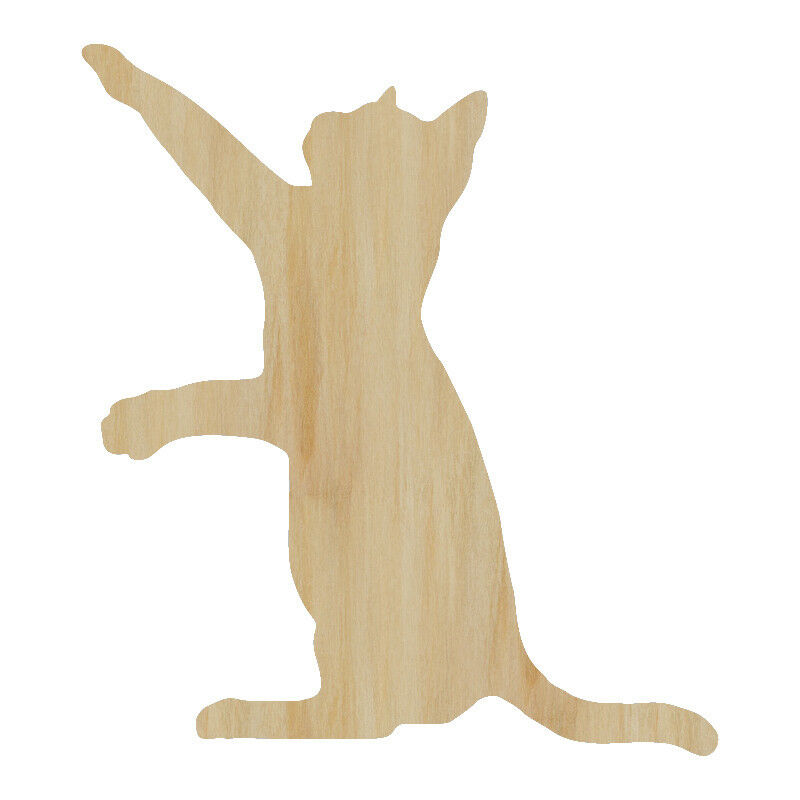 Laser Cut Out Wood Cat Wood Shape Craft Supply Unfinished Laser Cut Cat Cut Out